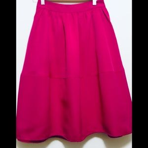 Express fit and flare fuchsia pink skirt